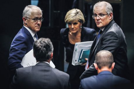 Malcolm Turnbull, Scott Morrison and Julie Bishop.