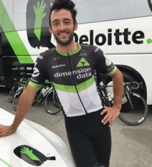 Hopeful: Nathan Haas knows the hilly route of stage eight plays to his strengths as he chases a breakthrough win.