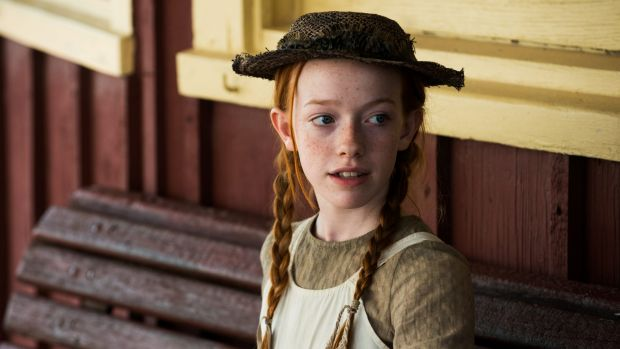 Irish actor Amybeth McNulty as Anne in the new TV series, Anne with an E.