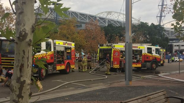 Fire Trucks At The Scene Sydney Olympic Park