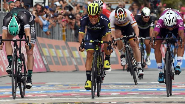 Gaviria claims his 3rd Giro stage win, Dumoulin keeps lead