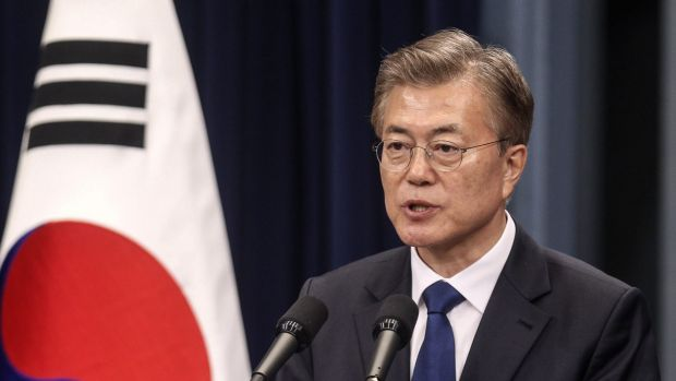 Moon Jae-in, South Korea's new liberal President, says dialogue with Pyongyang will become impossible if it keeps acting ...