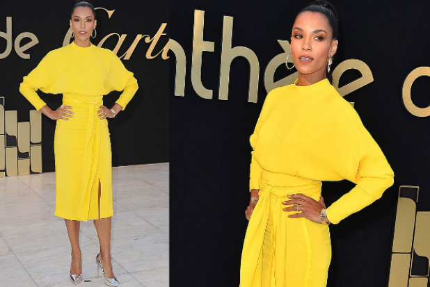 Brooklyn Sudaro's amazing yellow dress is a bit of a throwback to a power outfit worn by a key character in Bold & The ...