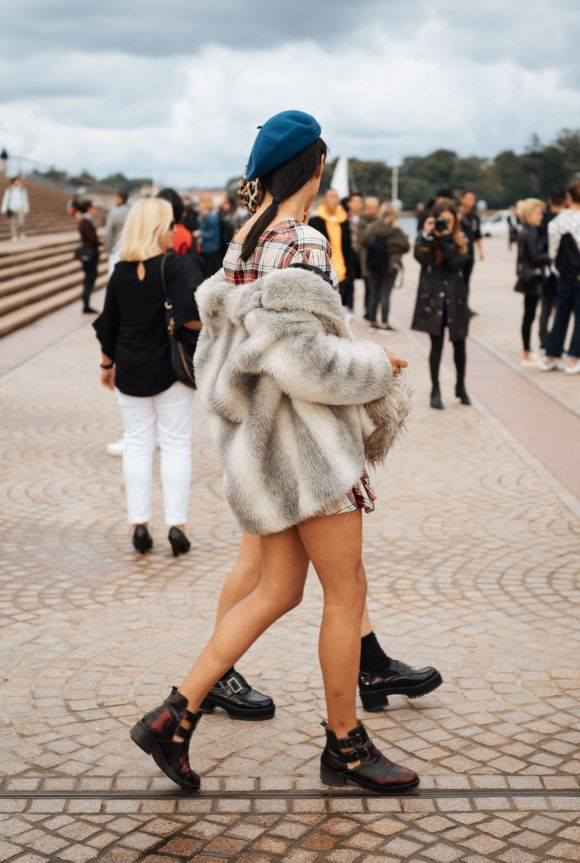 Flannel and fur at Fashion Week, day one.
