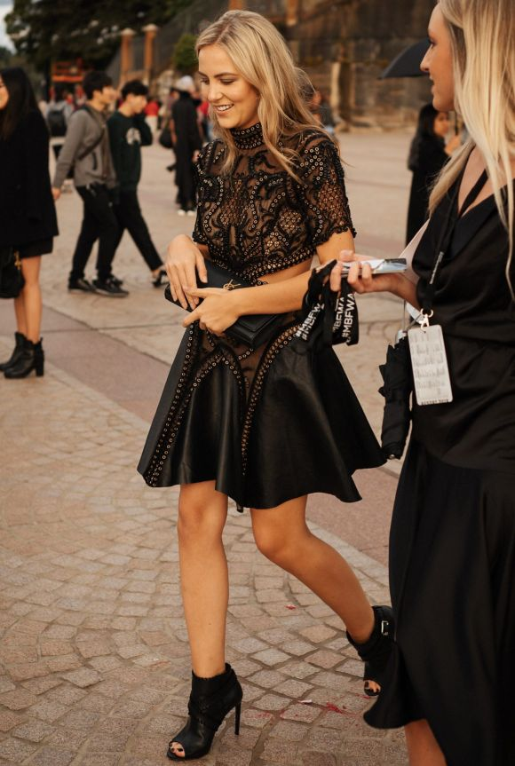 Leather and lace at Fashion Week, day one.