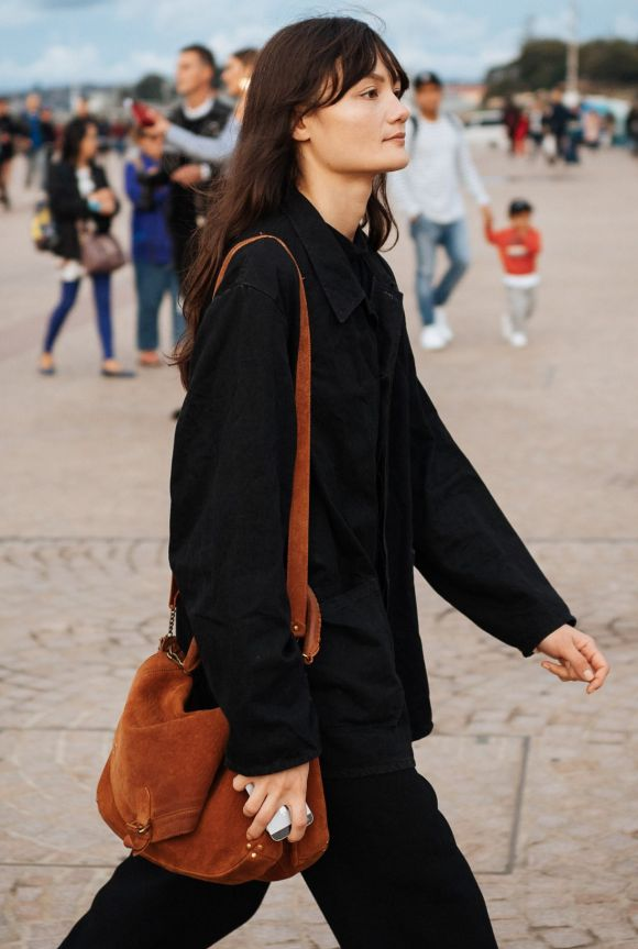 A simple, chic, silhouette at Fashion Week, day one.