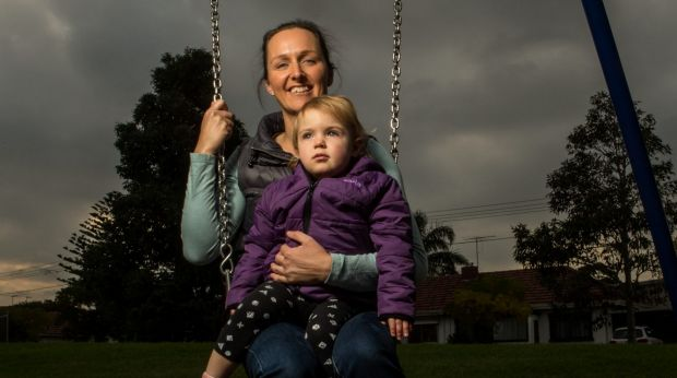 Belinda Ousley with her 18-month-old, Lucy.