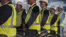 Guest at the ceremony to commence construction of Olderfleet Building at 477 Collins Street