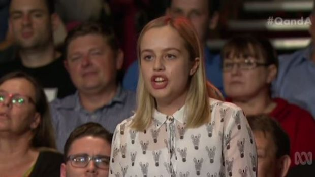 Audience member Molly James was unimpressed with the Education Minister's responses.