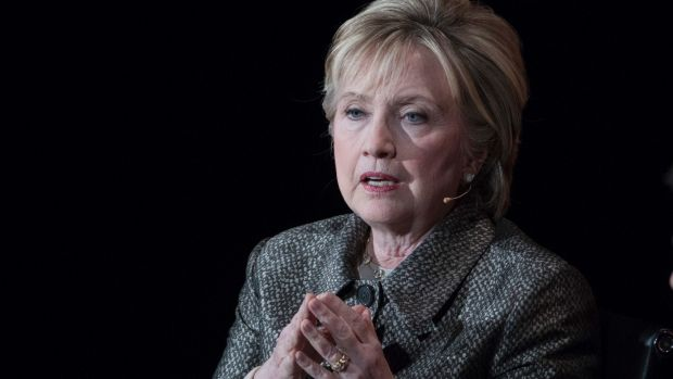 Fomer presidential candidate Hillary Clinton launches Onward Together in New York.