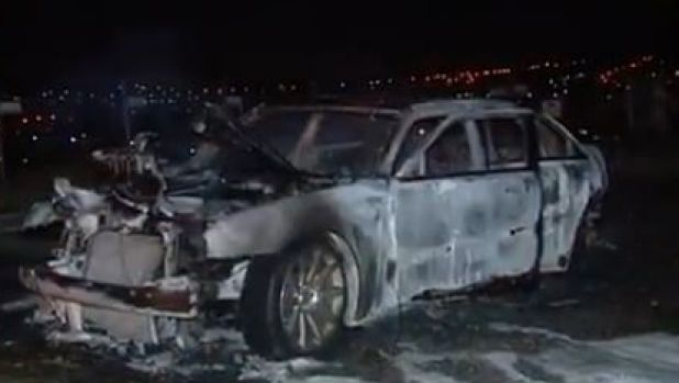 Police found the burnt-out vehicle at Oxenford on Monday night.
