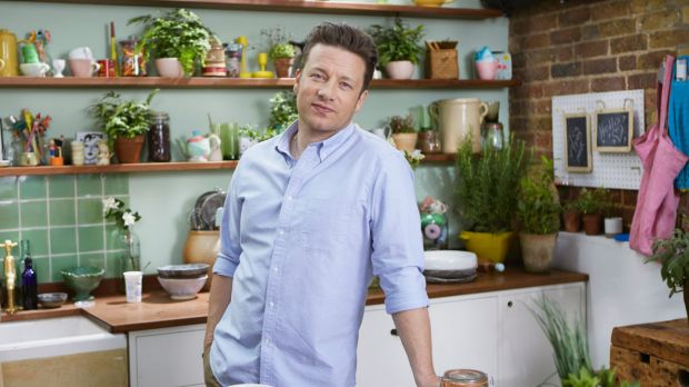 The face of TV cookery: Jamie Oliver.