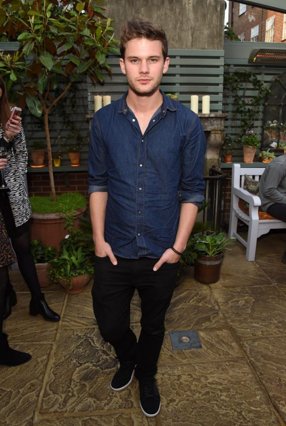 Jeremy Irvine attends The Ivy Chelsea Garden's 2nd anniversary party on May 9, 2017 in London, England.