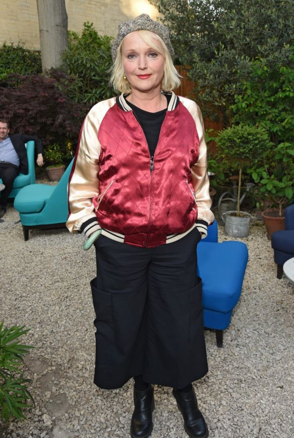 Miranda Richardson attends The Ivy Chelsea Garden's 2nd anniversary party on May 9, 2017 in London, England.