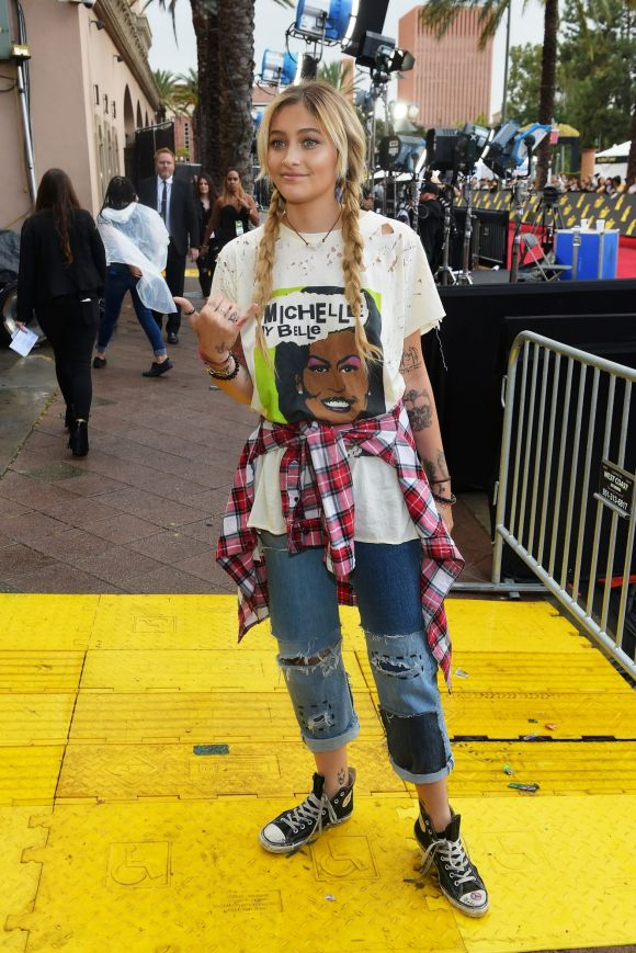Paris Jackson attends the 2017 MTV Movie And TV Awards at The Shrine Auditorium on May 7, 2017 in Los Angeles, California.