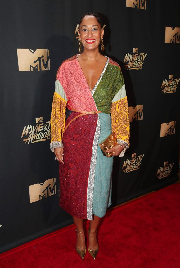 Tracee Ellis Ross attends the 2017 MTV Movie And TV Awards at The Shrine Auditorium on May 7, 2017 in Los Angeles, ...