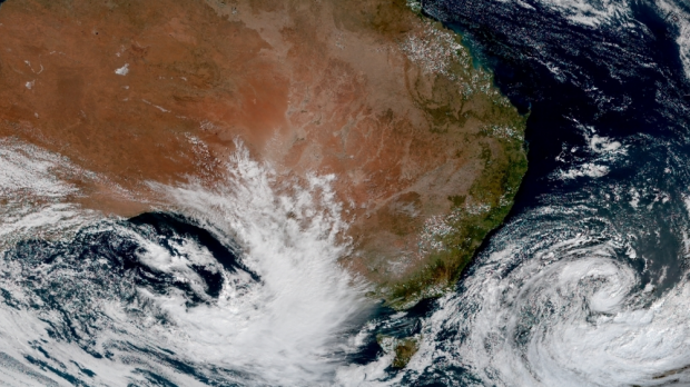 Rain soaking South Australia and parts of Victoria on Tuesday will reach Sydney by Thursday.