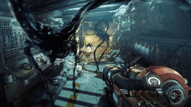 Aliens are on the rampage in the PS4, Xbox One and PC game <i>Prey</i>.