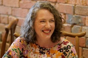 Singer and writer Angie Hart at lunch at Hutong Dumpling Bar, Melbourne.