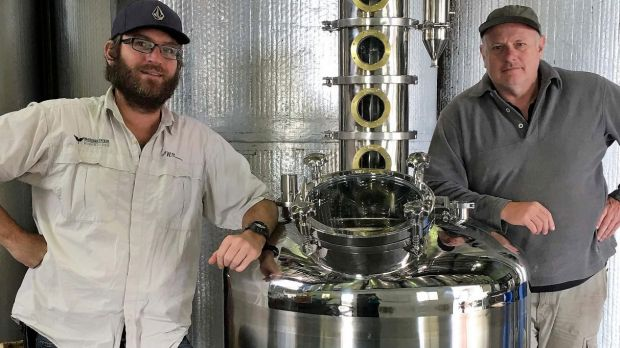 Greg Garnish and senior winemaker Bernie Stanlake.