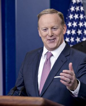Sean Spicer, White House press secretary - for now.