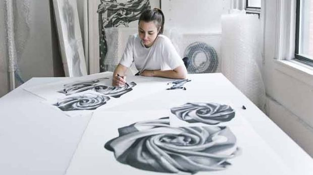 Artist CJ Hendry says drawing is her meditation, without even know it.