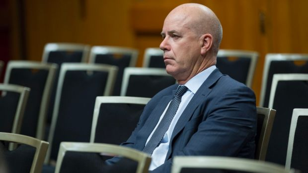 Fairfax Media chief executive officer Greg Hywood prior to speaking at a parliamentary inquiry into the future of ...