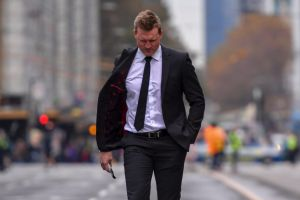 Most outstanding news/feature photograph of the 2017 AFMA awards went to this image of Collingwood coach Nathan Buckley