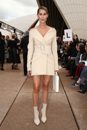 Lindy Klim in Dion Lee at his opening show at the Sydney Opera House on Sunday, May 14.