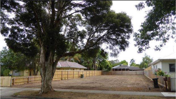 This site in Mitcham South has been stripped of all vegetation in preparation for development.