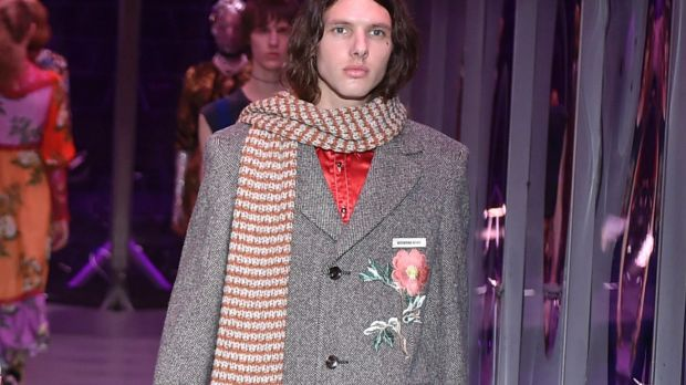 Maxime Sokolinski, who walked the runway at a Gucci show during Milan Fashion Week in February, brought some celebrity ...