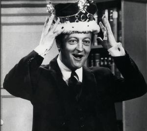 Graham Kennedy with the crown.