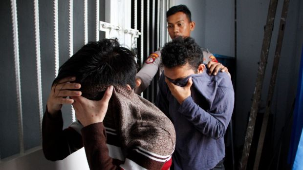 The two men were found guilty of gay sex under Aceh's sharia-inspired laws.