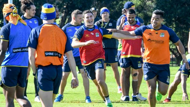 All smiles: Mitchell Moses.
