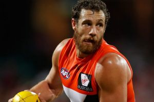 """The Giants' Shane Mumford, universally hailed as """"Mummy"""" by commentators."""