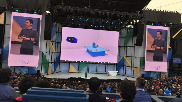 Clay Bavor, head of Google's VR division, speaks at I/O.