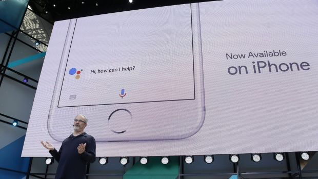 Google's Scott Huffman unveils Google Assistant for iPhone.