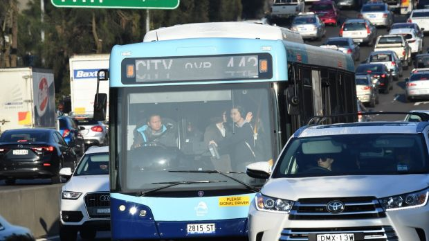 Sydney bus passengers travel for free in 'fare free day'
