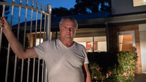 """We are hamstrung"": Andrew Murray outside his home in Miranda."