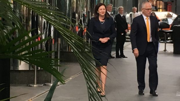 Queensland Premier Annastacia Palaszczuk and Prime Minister Malcolm Turnbull.