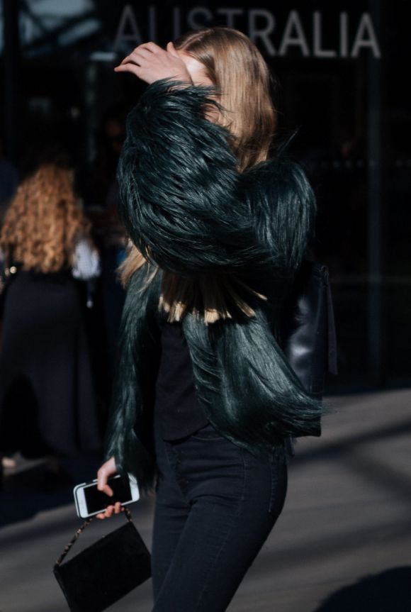 Faux fur adds a touch of glamour.