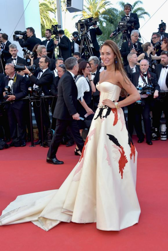 Jara Ghadri attends the Ismael's Ghosts (Les Fantomes d'Ismael) screening and Opening Gala during the 70th annual Cannes ...