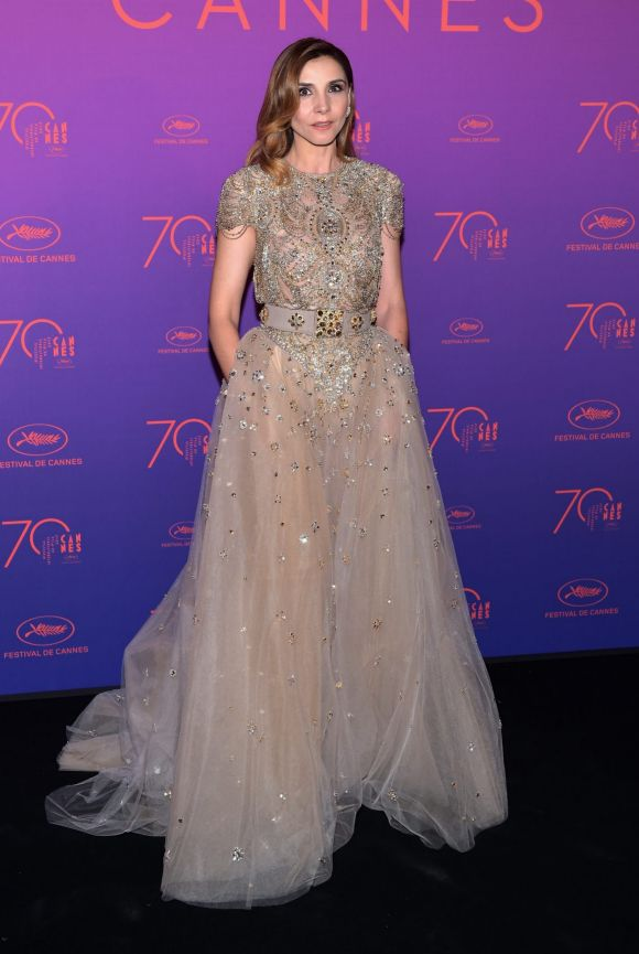 Clotilde Courau attends the Opening Gala dinner during the 70th annual Cannes Film Festival at Palais des Festivals.