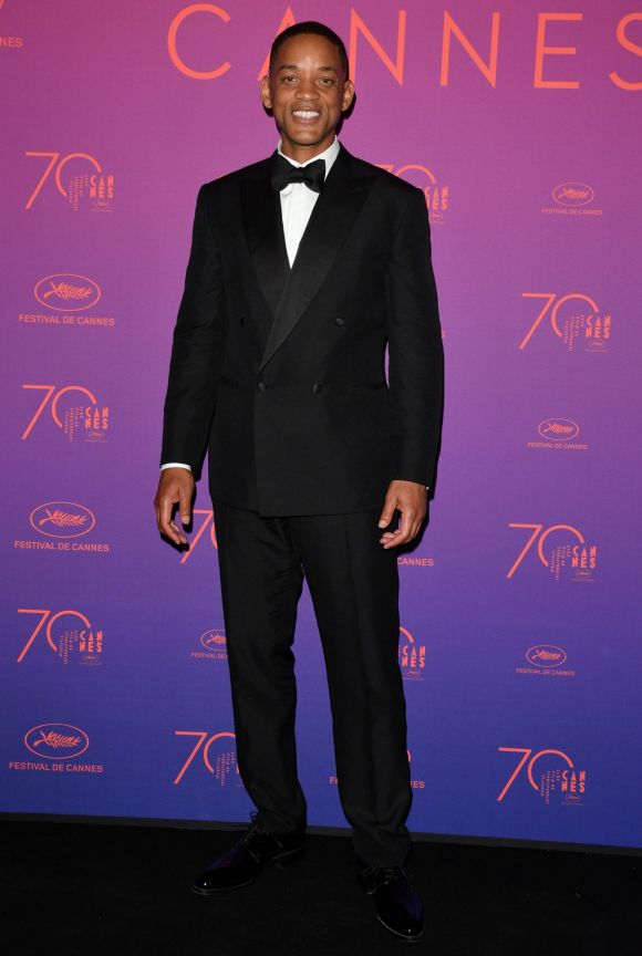 Will Smith attends the Opening Gala dinner during the 70th annual Cannes Film Festival at Palais des Festivals.