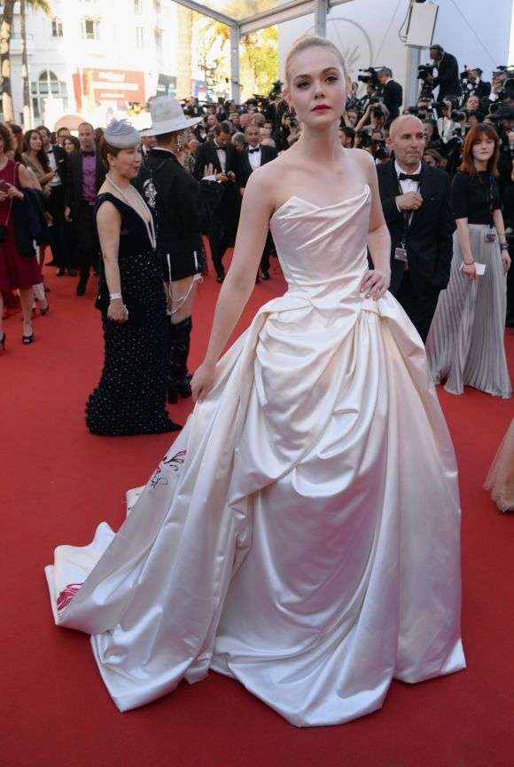 Elle Fanning attends the Ismael's Ghosts (Les Fantomes d'Ismael) screening and Opening Gala during the 70th annual ...