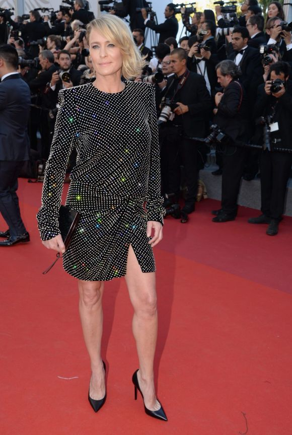 Robin Wright attends the Ismael's Ghosts (Les Fantomes d'Ismael) screening and Opening Gala during the 70th annual ...