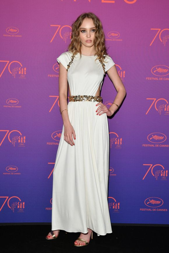 Lily-Rose Depp attends the Opening Gala dinner during the 70th annual Cannes Film Festival at Palais des Festivals.