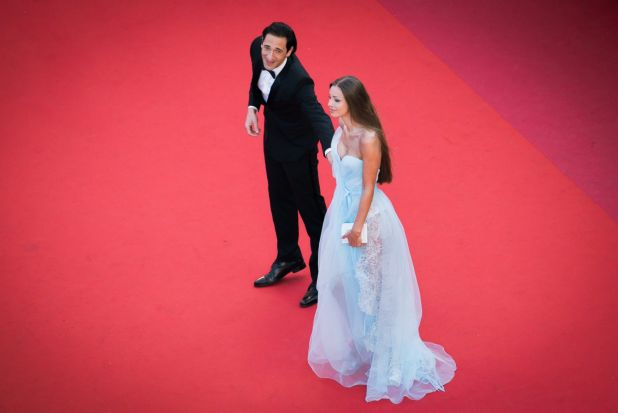 Adrien Brody and Lara Lieto attend the Ismael's Ghosts (Les Fantomes d'Ismael) screening and Opening Gala during the ...