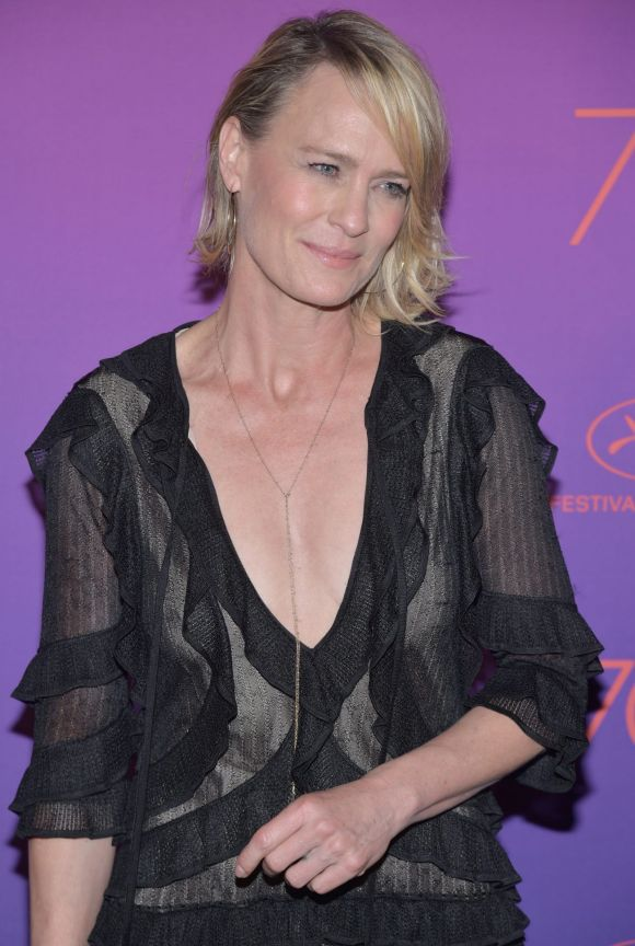 Robin Wright attends the Opening Gala Dinner during the 70th annual Cannes Film Festival at Palais des Festivals.