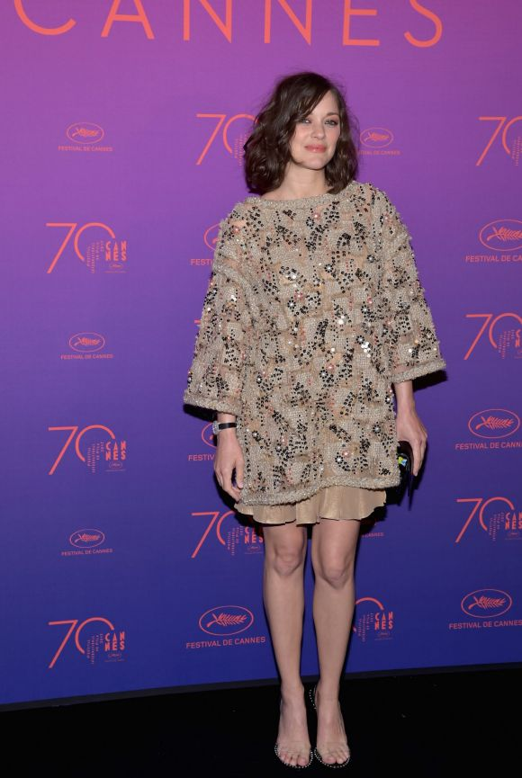 Marion Cotillard attends the Opening Gala dinner during the 70th annual Cannes Film Festival at Palais des Festivals.